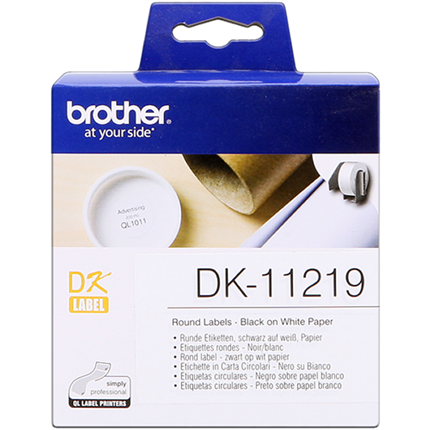 Brother DK-11219 Etiquetas 12 mm, 1200 piezas / bobina original