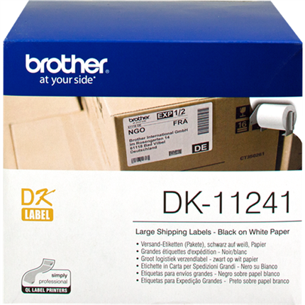 Brother DK-11241 Etiquetas de envío, 102 x 152mm blanco 200 Et./Rollo