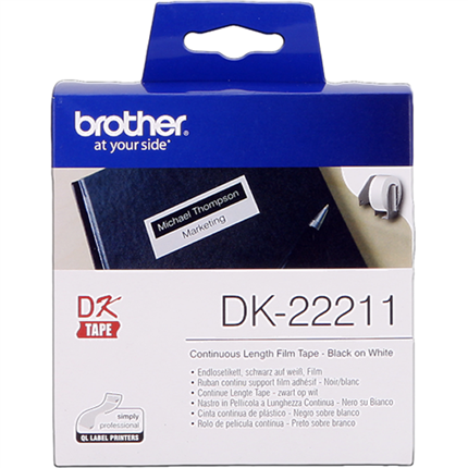 Brother DK-22211 Etiquetas  Cinta continua, 29 mm x 15,24 m blanco