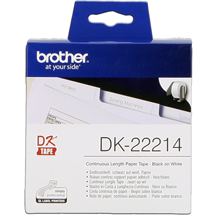 Brother DK-22214 Etiquetas  Cinta continua, 12 mm blanco 30,48 m