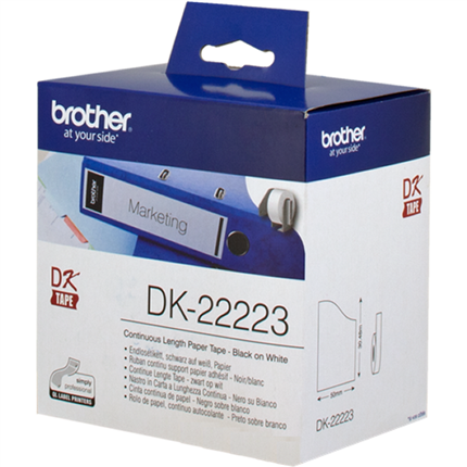 Brother DK-22223 Etiquetas  continuo, 50 mm x 30,48 m blanco