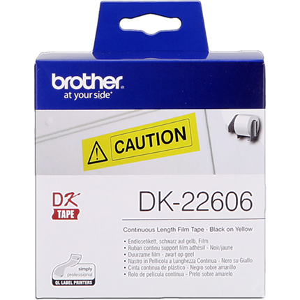 Brother DK-22606 Etiquetas amarillo Cinta continua, 62 mm x 15,24 m