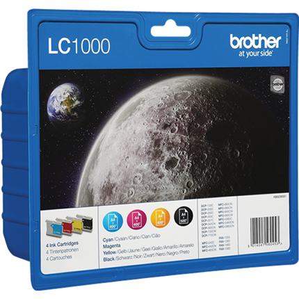 Brother LC1000VALBPDR multipack bk, c, m, y