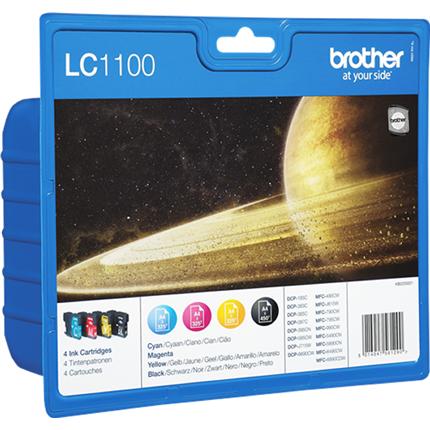 Brother LC1100VALBPDR multipack bk, c, m, y