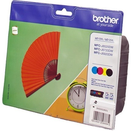 Brother LC129XLVALBPDR (LC-125 XL / LC-129 XL) bk +c +m +y