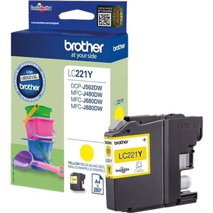 Brother LC221Y tinta amarillo