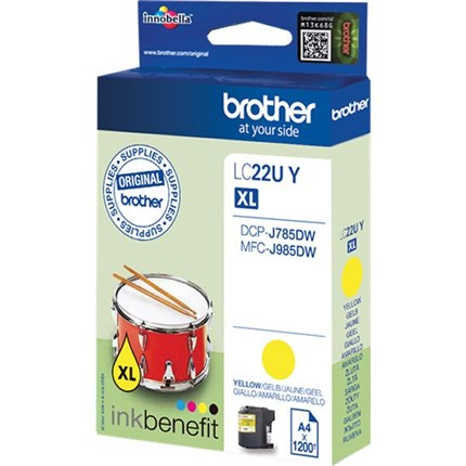 Brother LC22UY tinta amarillo original