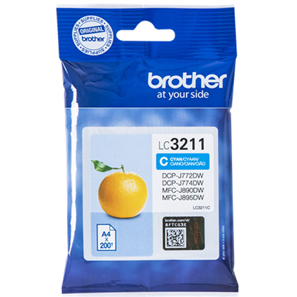 Brother LC3211C tinta cian original