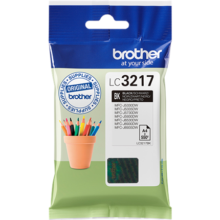 Brother LC3217BK tinta negro original