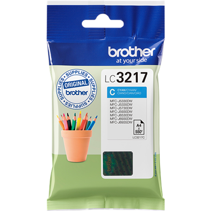 Brother LC3217C tinta cian original