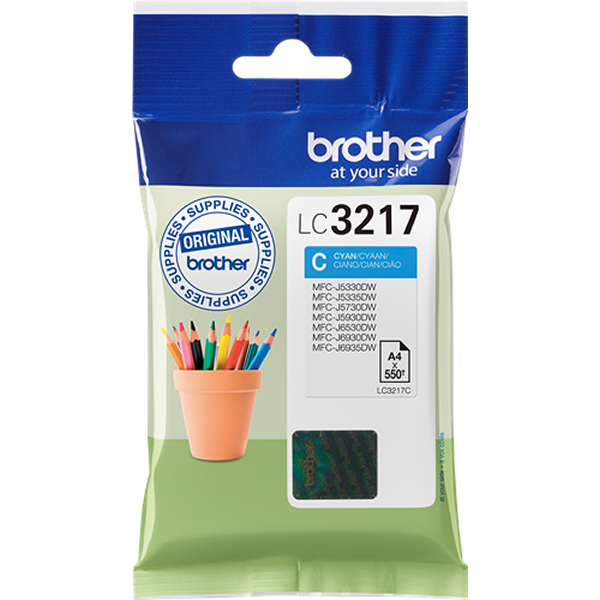 Brother LC3217C tinta cian