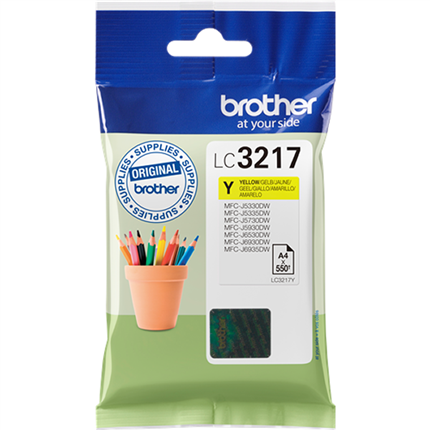 Brother LC3217Y tinta amarillo original