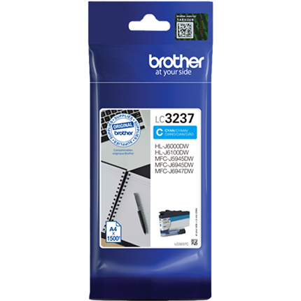 Brother LC3237C tinta cian