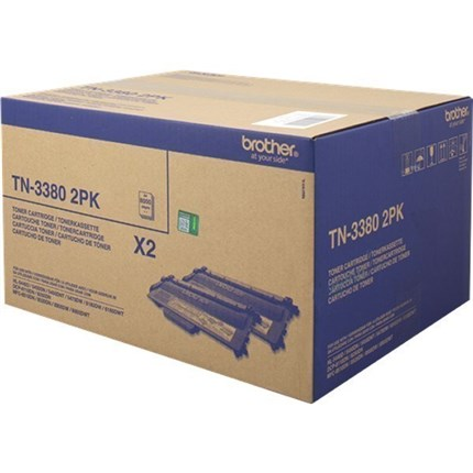Brother TN3380TWIN (TN-3380 2x) toner negro original
