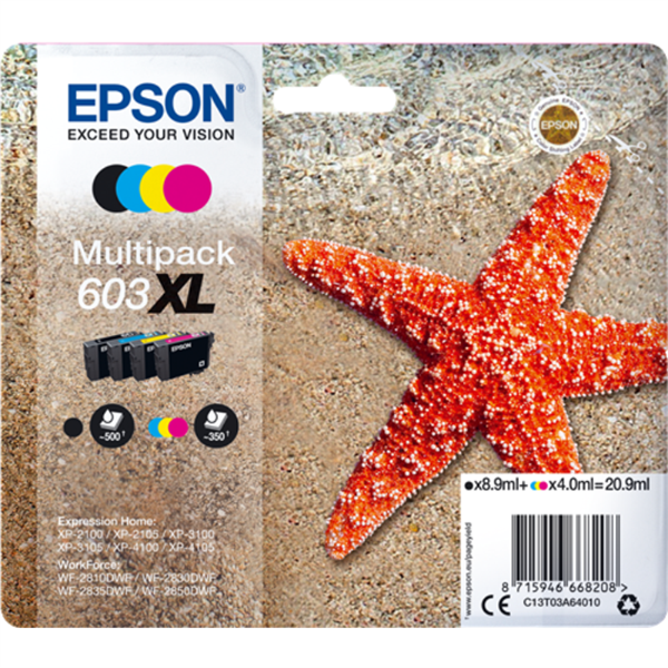 Epson 603XL - C13T03A64010 multipack