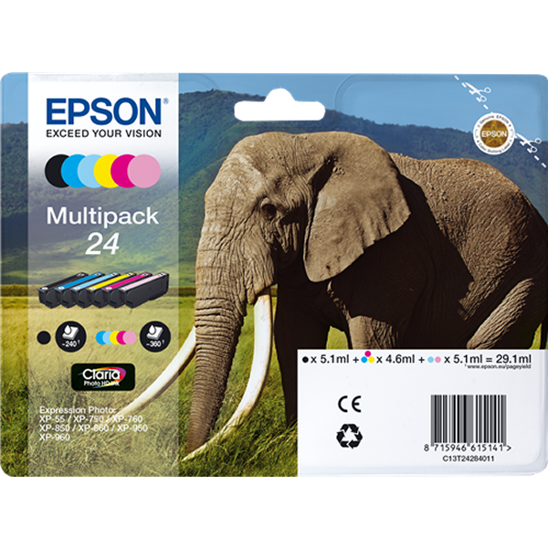 Epson T2428 - C13T24284011 multipack bc c m y lc lm