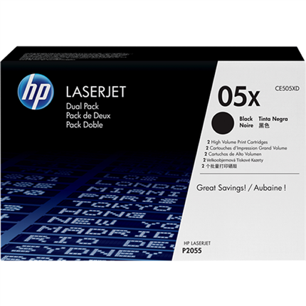 HP 05X - CE505XD multipack negro