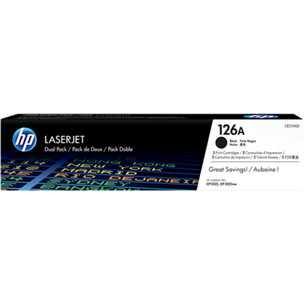 HP 126A - CE310AD multipack negro