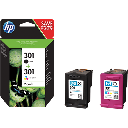 HP 301 - N9J72AE multipack negro y colores