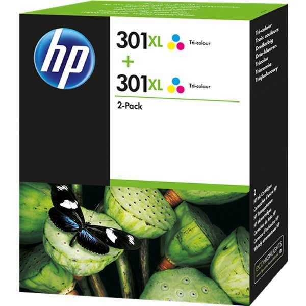 HP 301XL - D8J46AE - 2 x 301XL tinta color