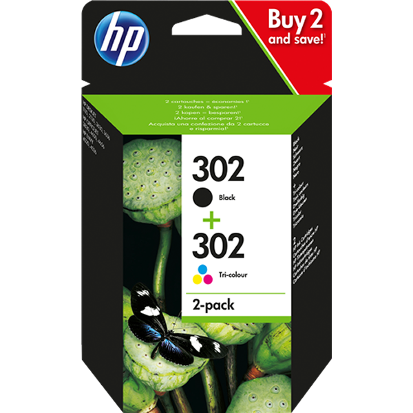 HP 302 - X4D37AE multipack negro y color