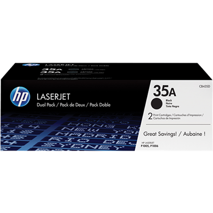 HP 35A - CB435AD multipack negro