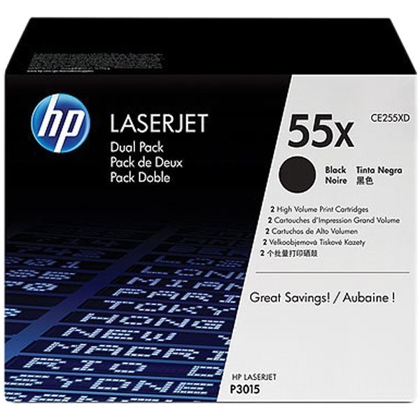 HP 55X - CE255XD multipack negro