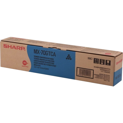 Sharp MX-70GTCA toner cian