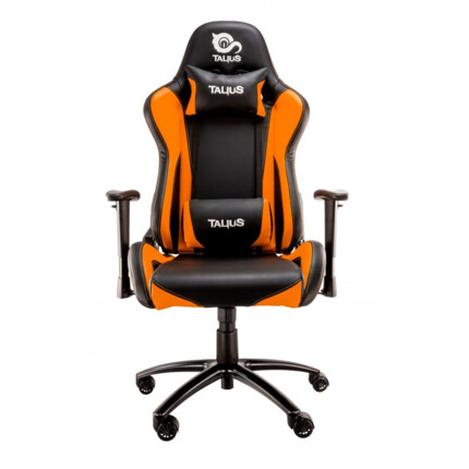 Silla gaming Talius Lizard Negro/Naranja, 2D, butterfly, base metal, ruedas 60mm nylon, gas clase 4