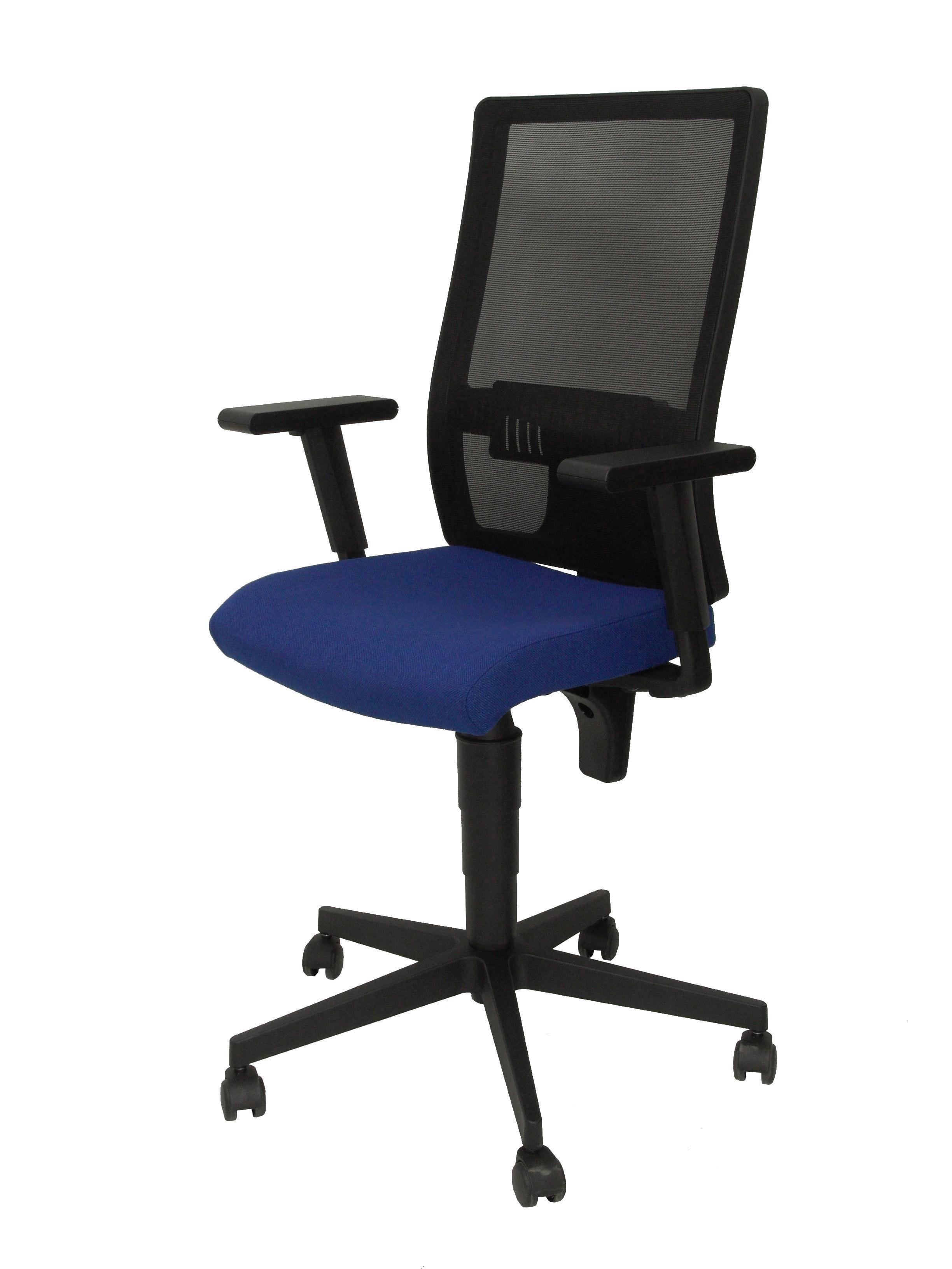 Silla povedilla respaldo malla negro asiento bali azul for Asiento silla oficina