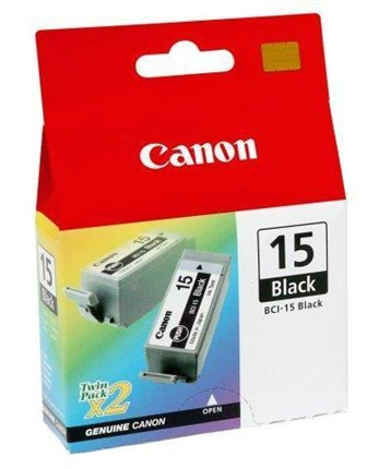 Tinta BCI-15BK Canon negro Pack 2 Unds.