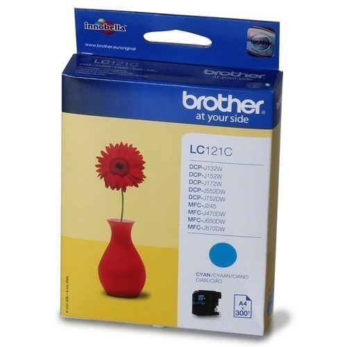 Tinta Brother LC121C cian 300 paginas