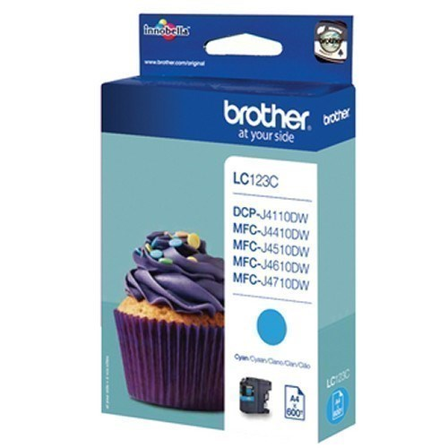 Tinta Brother LC123C cian 600 paginas