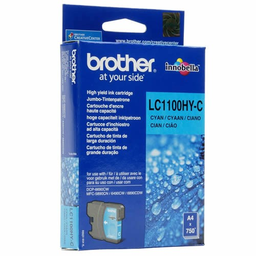 Tinta LC-1100HYC Brother cian alta capacidad