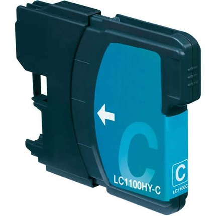 Brother LC-1100HYC tinta cian compatible