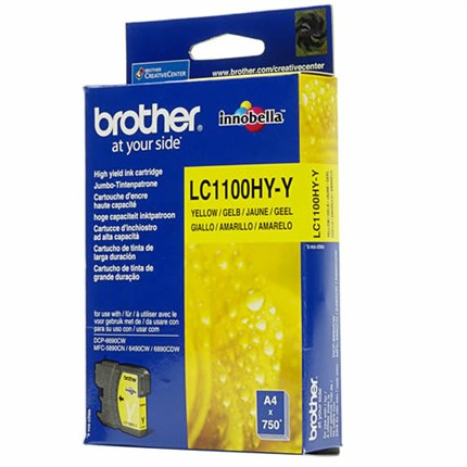 Tinta LC-1100HYY Brother amarillo alta capacidad