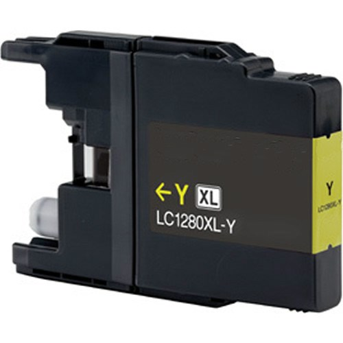 Tinta LC-1280XLY Brother compatible amarillo
