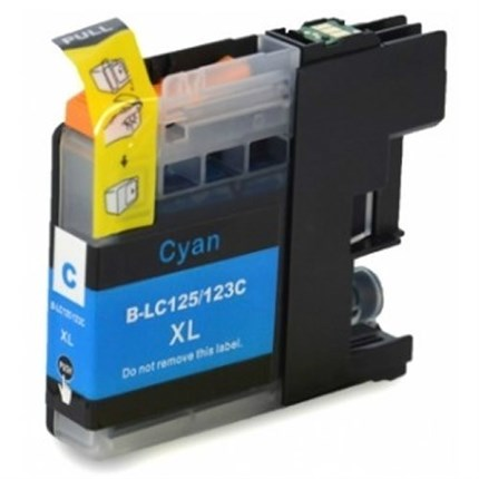 Tinta LC123C Brother compatible cian