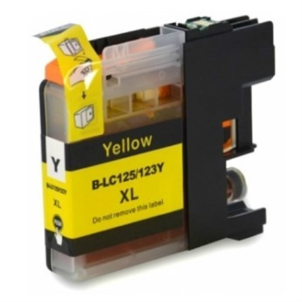 Tinta LC123Y Brother compatible amarillo