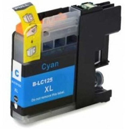 Tinta LC125XLC Brother compatible cian