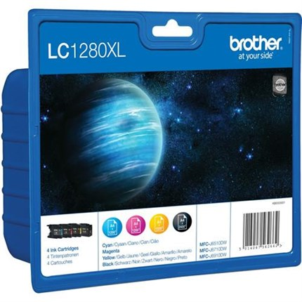 Tinta LC1280XLVALBPDR Brother Pack bk c m y
