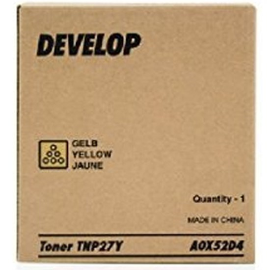 Toner Develop A0X52D4 - TNP27Y amarillo