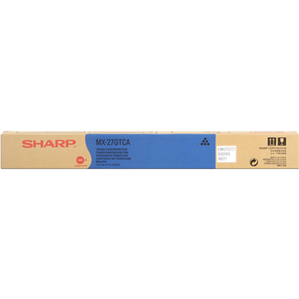 Sharp MX-27GTCA toner cian original