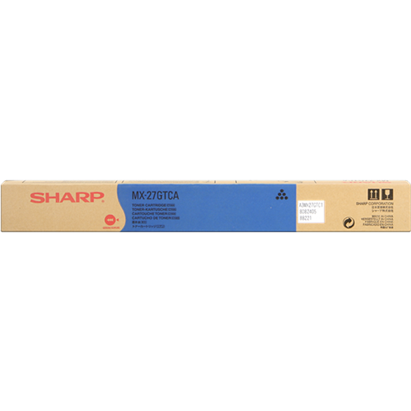 Toner Sharp MX-27GTCA cian