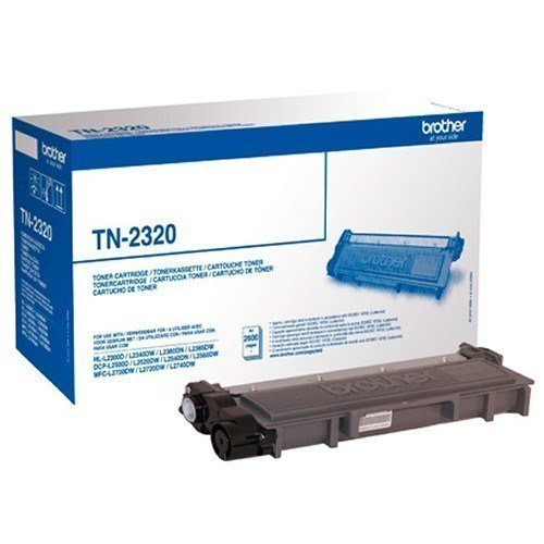 Brother TN-2320 toner negro 2.6k original